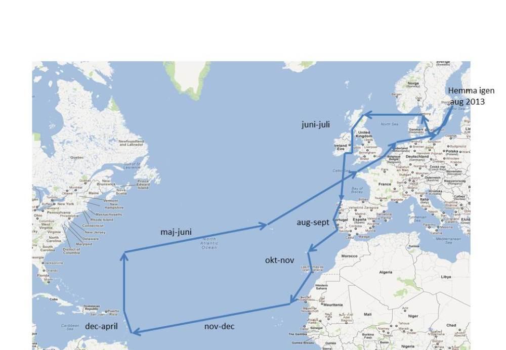 Planerad rutt 2012-2013